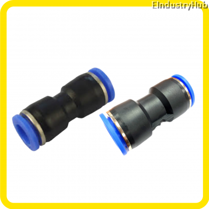 Pneumatic Straight Union Air Fitting Push In Fitting Quick Joint Fitting (PU04,06,08,10,12,16)