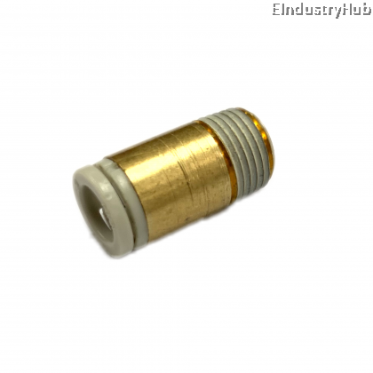 """KJS 6mm x 1/8"""" Miniature Male Connector Pneumatic Air Push In One Touch Quick Fitting (10pcs)"""