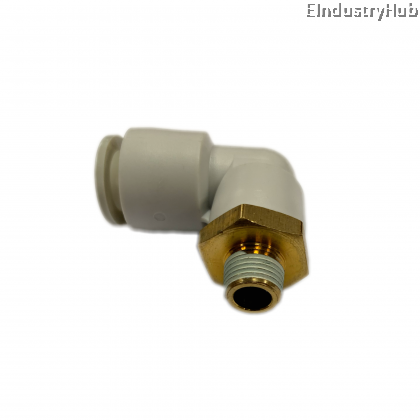 """KQ2L 10mm x 1/8"""" Male Elbow Pneumatic Air Push In One Touch Quick Fitting (10pcs)"""