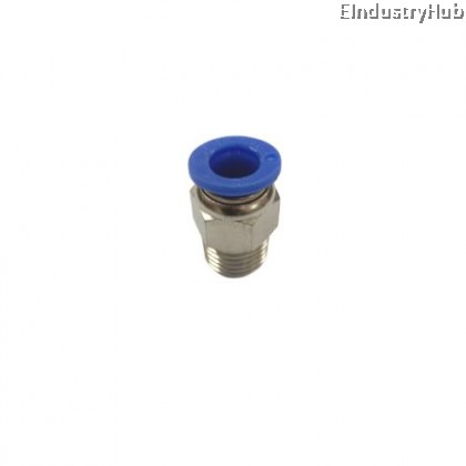 PC08-02 8mm x 1/4 Male Connector Pneumatic Air Push In Quick Fitting (10pcs)